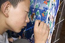 220px-Painting_Thangka_Lhasa_Tibet_Luca_Galuzzi_2006